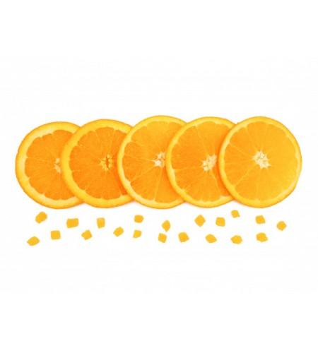 Chocolate trozos de naranja