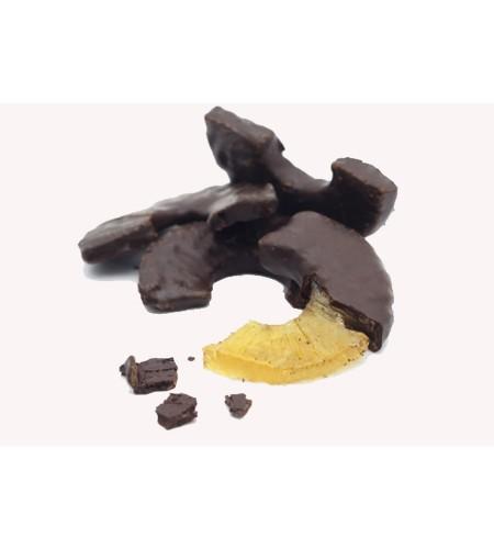 Piña con chocolate
